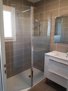 Poline entreprise : Carrelage salle de bain à Salbris (41300) : Rénovation complète d'une salle de bain avec dépose totale de l'existant à Salbris 41300