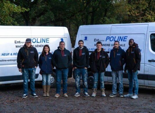 Poline entreprise : Maçonnerie générale à Salbris 41300, l'équipe POLINE au complet